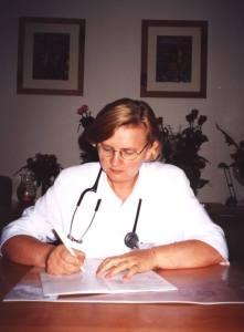 dr Całbecka w poprzednich pomieszczeniach Oddziału Hematologii